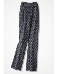 Relaxed Batik Print Plus Size Pants