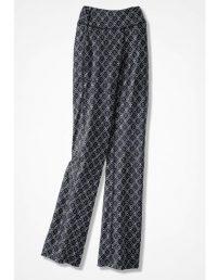 Relaxed Batik Print Plus Size Pants