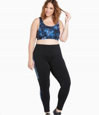 Torrid Active - Abstract Print Mesh Cropped Leggings
