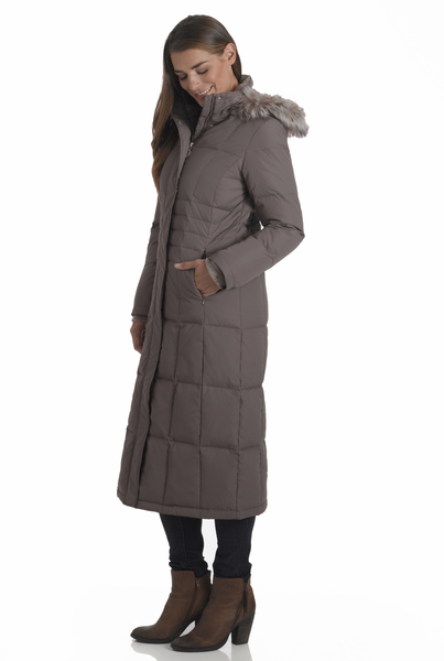 Women's Plus Size Full Length Power Down Jacket