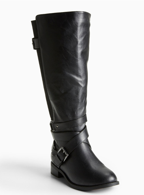 Wide width ample calf knee high tall women boots