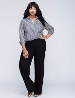 Tailored Stretch Wide Leg Pants