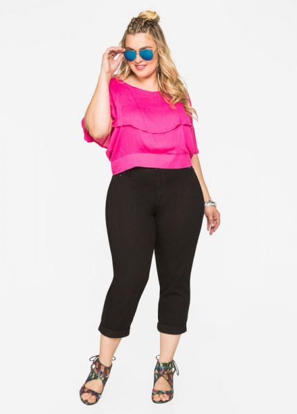 Cuffed Capri Trouser Style Jeans Outfit