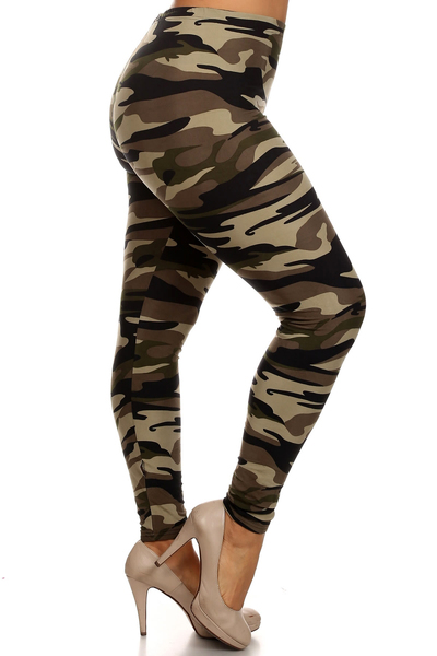Women's Plus Size Fashion Design Leggings