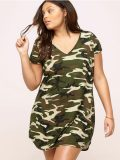 Camo Tshirt Dress Plus Sizes