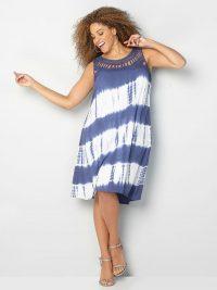 diagonal tie dye dress