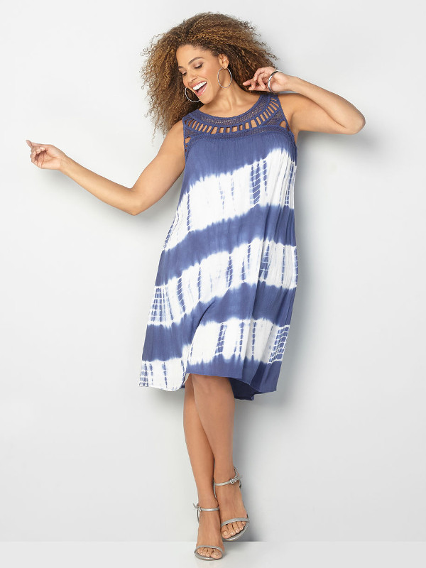 diagonal tie dye dress