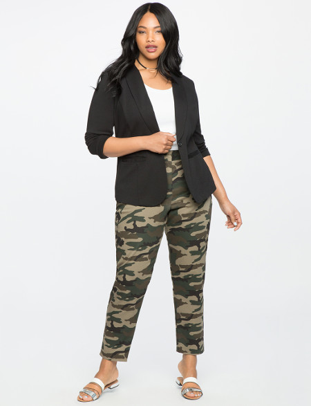 Plus Size Skinny Camo Pants