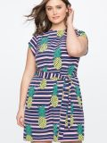 Printed Easy Tee Dress Plus Sizes
