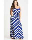 Bold Stripe Plus Size Maxi Dress