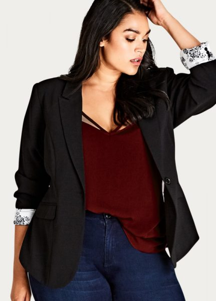 Elegant Lined Jacket in Plus Sizes