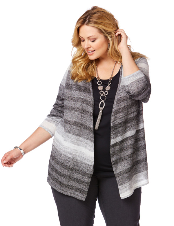 Plus Size Knitwear  Women's Plus Sizes Curator Cardigan