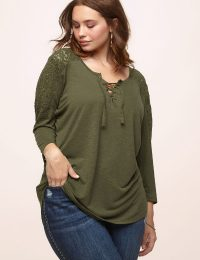Lace Inset Top Loralette