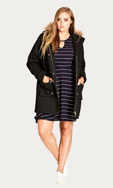 Plus Size Warm Parka