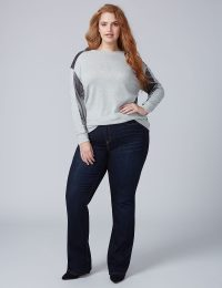 Heather Grey Velvet Sweatshirt Lane Bryant
