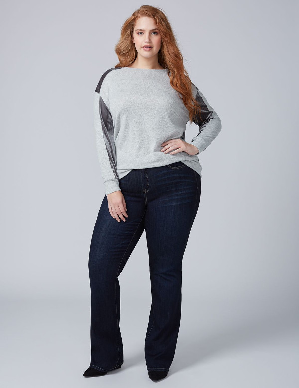Heather Grey Velvet Sweatshirt