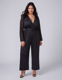 Women Fast Lane Chiffon Sleeve Jumpsuit