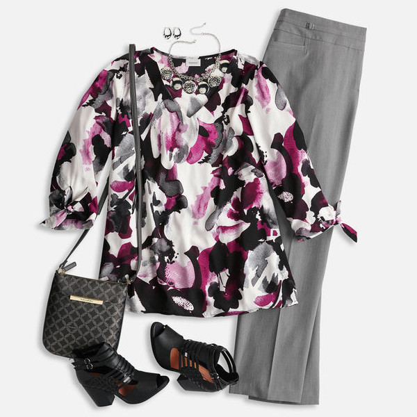 FLoral Blouse Feminine Workwear Outfits