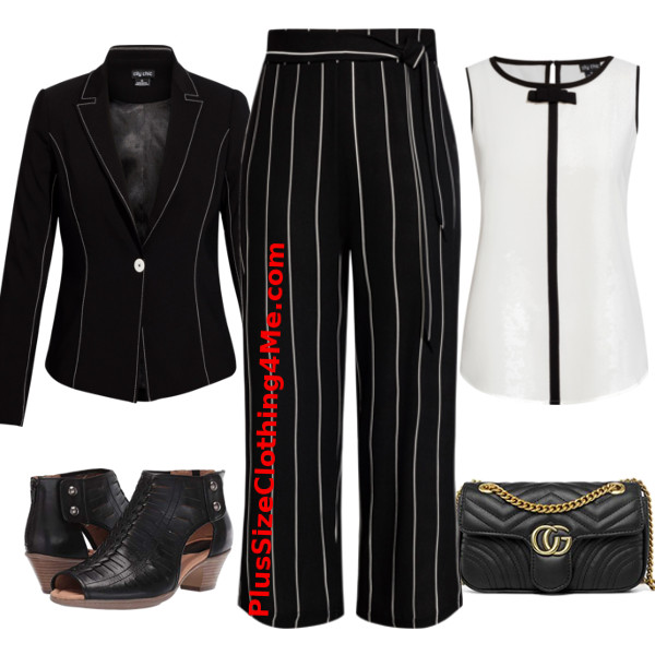 Black White Career Outfit