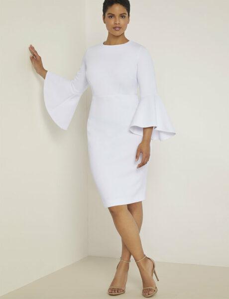 White Dress in Plus Sizes