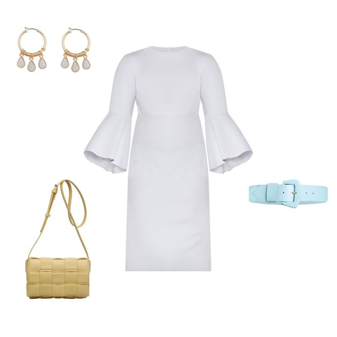 PLus Size WHite Dress Outfit