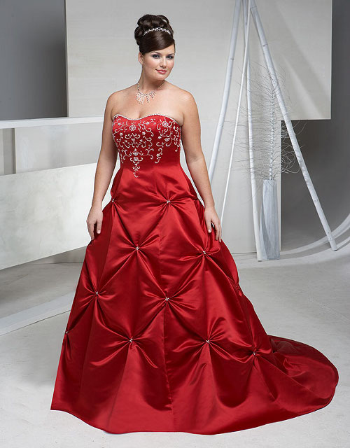 Plus size wedding dress full figure bridal gowns for Full size wedding dresses