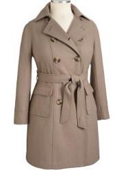 trendy plus size trench coat
