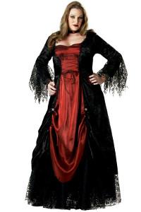 Gothic Womens Halloween Costume In Plus Sizes