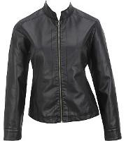 cute plus size leather jacket