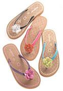 wide width flip flops for women