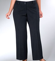 slim flared pants in plus sizes
