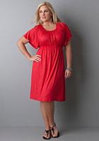 plus size flutter sleeve knit dress