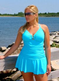 Cool Chic Plus Size Swimming Dress